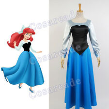 The Little Mermaid Cosplay Costume Princess Ariel Uniform Party Dress Ball Gown