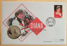First Day Coin Cover: Princess Diana 1997 Zambia 1000 Kwacha Memorial Coin Cover