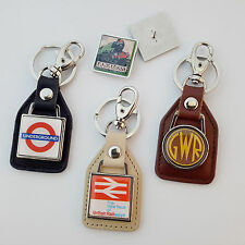 TRAIN / UNDERGROUND / RAILWAY Logo KEYRINGS / PIN BADGES - Large Collection NEW