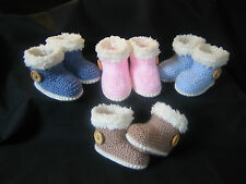 Hand knitted baby snug boots/booties/shoes - Various sizes and colours