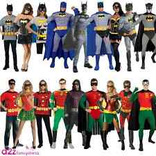 ADULT BATMAN ROBIN FILM DELUXE SUPERHERO MUSCLE LADIES MENS FANCY DRESS COSTUME