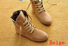 2013 Hot 9 colors Women Lace Up Winter Boots Flat Ankle Shoes Spring Autumn