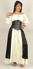 MEDIEVAL RENAISSANCE PIRATE WENCH COSTUME DRESS Bar Maid CountryTavern Gypsy