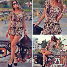 New Sexy Women Leopard Casual Sleeveless Party Evening Cocktail Short Mini Dress