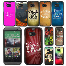 Cover for HTC ONE M8 Bible Christian God Faith Phone Case