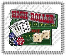 High Roller Casino Birthday ~ Frosting Sheet Cake Topper ~ Edible Image ~ D20064