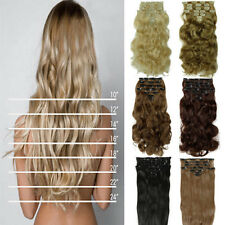 rade Classy Heat Resistant Synthetic Clip In Hair Extensions brown For Party hgs