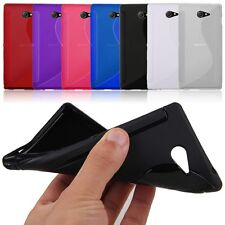 Soft TPU Gel Silicone S-Line Back Case Cover Skin For Sony Xperia M2
