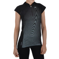 adidas Performance Womens Climacool miCoach Fitness Running Gym Top - Black