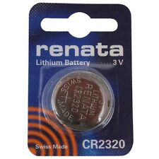 Renata CR2320 3V Lithium Coin Cell Watch Battery DL 2320, ECR 2320, BR 2320