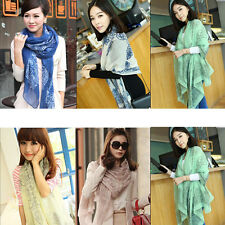 Hot Women Girl's Voile Pashmina Long Wrap Thin Shawl Scarfs Stole Xmas Gift