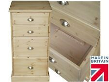 Solid Pine Filing Cabinet, 4 Drawer Handcrafted & Waxed A4 & Folio Filing Unit