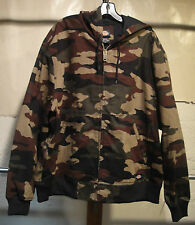 DICKIES TJ745 Sanded Duck Thermal Lined Hooded Jacket CAMO M, L, XL, 2XL, 3XL