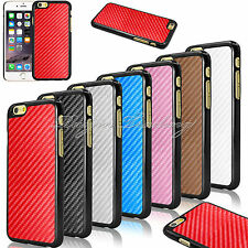 New Carbon Fiber Pu Leather Hard Case Cover For Apple iPhone 6 4.7 inch