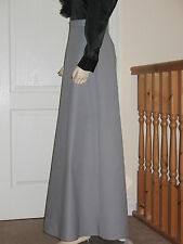 Victorian/Edwardian style 'A' line skirt (Grey)