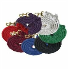 FORMAY 10' COTTON LEAD ROPE WITH BOLT SNAP IN PURPLE BLUE BURGUNDY OR RED