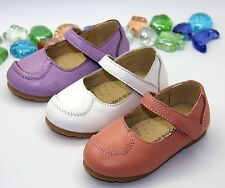 Toddler Baby Girl Shoes Mary Jane flats dress Genuine Leather USsize 5 6 6.5 7 8