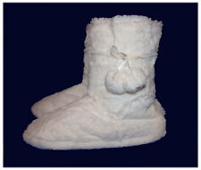 Plush Slipper Bootie Slippers with Indoor/Outdoor Rubber Sole
