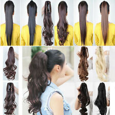 US Real Elegant Women Jaw/Claw Clip In Ponytail Hair Extensions Remy Style G032