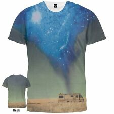 Breaking Bad RV Blue Cloud Desert Sublimation Licensed Adult T-Shirt