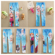 Trendy Frozen Anna Elsa Digital Print Girl Kid Leggings Tights Pants Anke Length