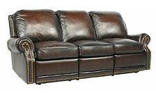 NEW Barcalounger Premier II 3 Seat Reclining Sofa Chair Stetson Coffee Leather