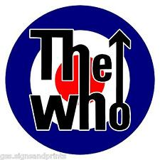 THE WHO MOD ROUNDEL TARGETS - PRINTED VINYL STICKER -  (CHOICE OF SIZES)