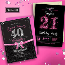 Personalised Birthday Invitations• Party Invites • 18th 21st 30th 40th 50th 60th
