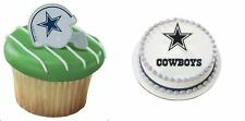 12 Dallas Cowboys Football Helmet Cupcake Ring OR Cake Topper  NFL Party