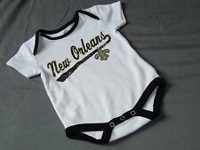 New Orleans Saints One piece Romper Infant Sizes NFL Team Apparel Baby Creeper