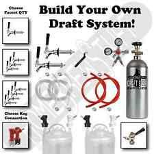 BUILD YOUR OWN Draft Beer Kegerator Conversion Kit Taps+Regulator+Tank Homebrew