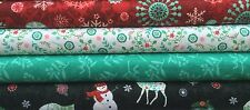 Bundle Studio E Christmas Fabric - Chalkboard Snowman Reindeer - Choose FQ / HY