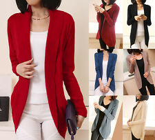Women's Casual Knitted Long Sleeve Cardigan Sweater Loose Coat Jacket Outwear