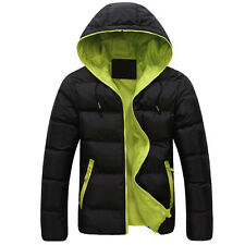 BIG SALE CHEAPEST Mens Winter Warm Hoodies Jackets Coat Thick Outwear Greatcoat