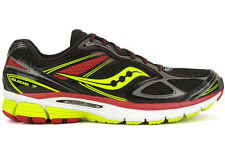 Saucony Guide 7 S20227-6 New Mens Black Red Running Training Athletic Shoes