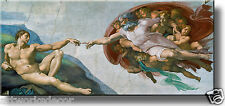 Creation of Adam by Michelangelo Picture Made on Wood, Wall Art Ready to Hang