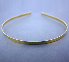 12 PLAIN TIARA HEADBANDS, 5mm. GILT. FOR MAKING YOUR OWN HEADBAND OR D.I.Y.TIARA