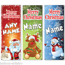 6ft Christmas Character Personalised PVC Plastic Door Poster Banner Decoration