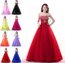 Stock A-Line Formal Prom Dresses Wedding Dress Quinceanera Ball Gowns in Stock