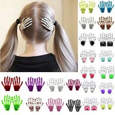Multi-color lady skeleton hand bone claw hairpin punk hair clip horror barrette