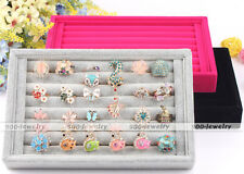1x Jewelry Earring Ring Display Organizer Box Showcase Tray Holder Case Storage