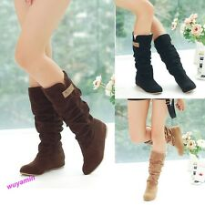 Fashion Autumn Winter Womens Boots Lace Cuff Increased Internal Woolen Shoes Hot