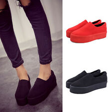 Simple Comfortable Women Girls Platform Slip-on Shoes Pumps Casual Flats Loafer