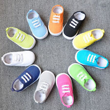 New Childrens Infant Toddlers Baby Boys Girls Flat Casual Canvas Shoes 1-5 Years