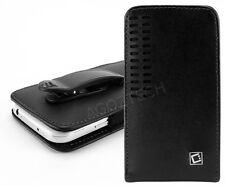Premium Vertical Leather Fixed Swivel Belt Clip Holster Case for ZTE Cell Phones