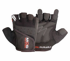 WEIGHT LIFTING GRIP PADDED GLOVES FITNESS TRAINING BODY BUILDING GYM CYCLING