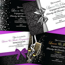 Personalised Engagement Invitations • Party Invites • Includes Envelopes