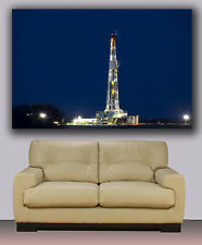 "drilling oil rig , Huge canvas print, modern art, wall decoration 30""x40"""
