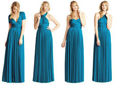 NEW Maxi TEAL Convertible Infinity Multi-Way Long Full Length DRESS