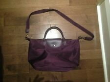 AUTHENTIC LE PLIAGE NEO LARGE HANDBAG IN BILBERRY